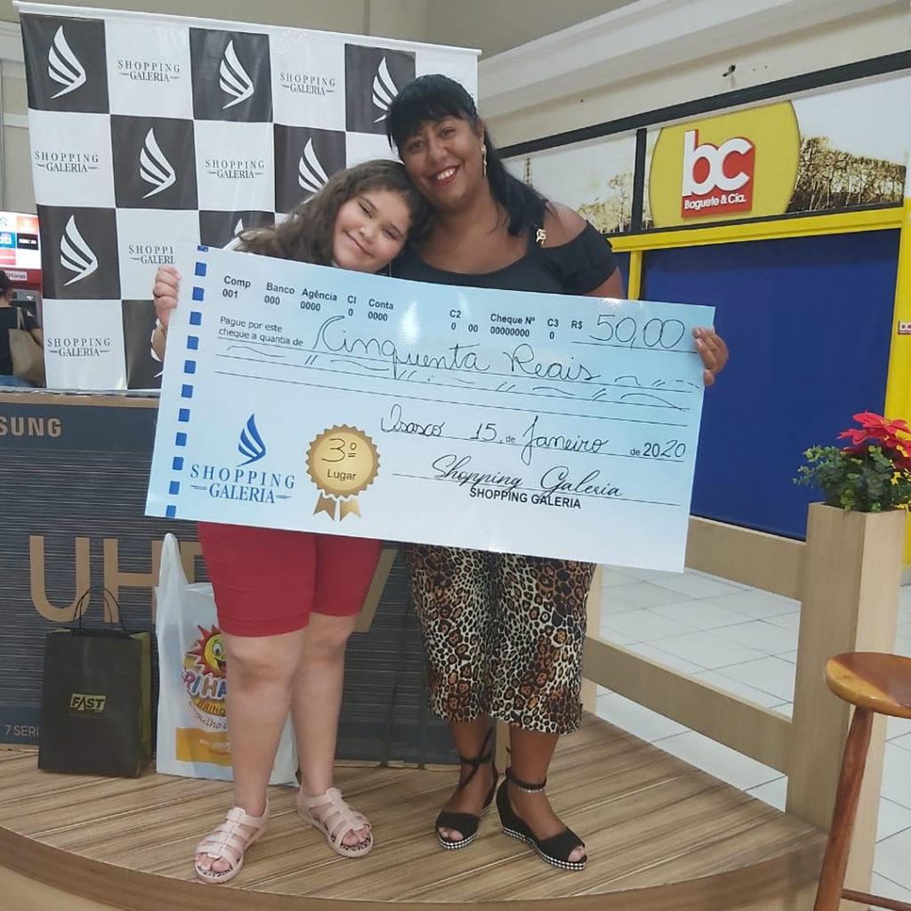 Ganhadora do 1º Concurso Cultural Infantil Eloísa Cecílio - Shopping Galeria