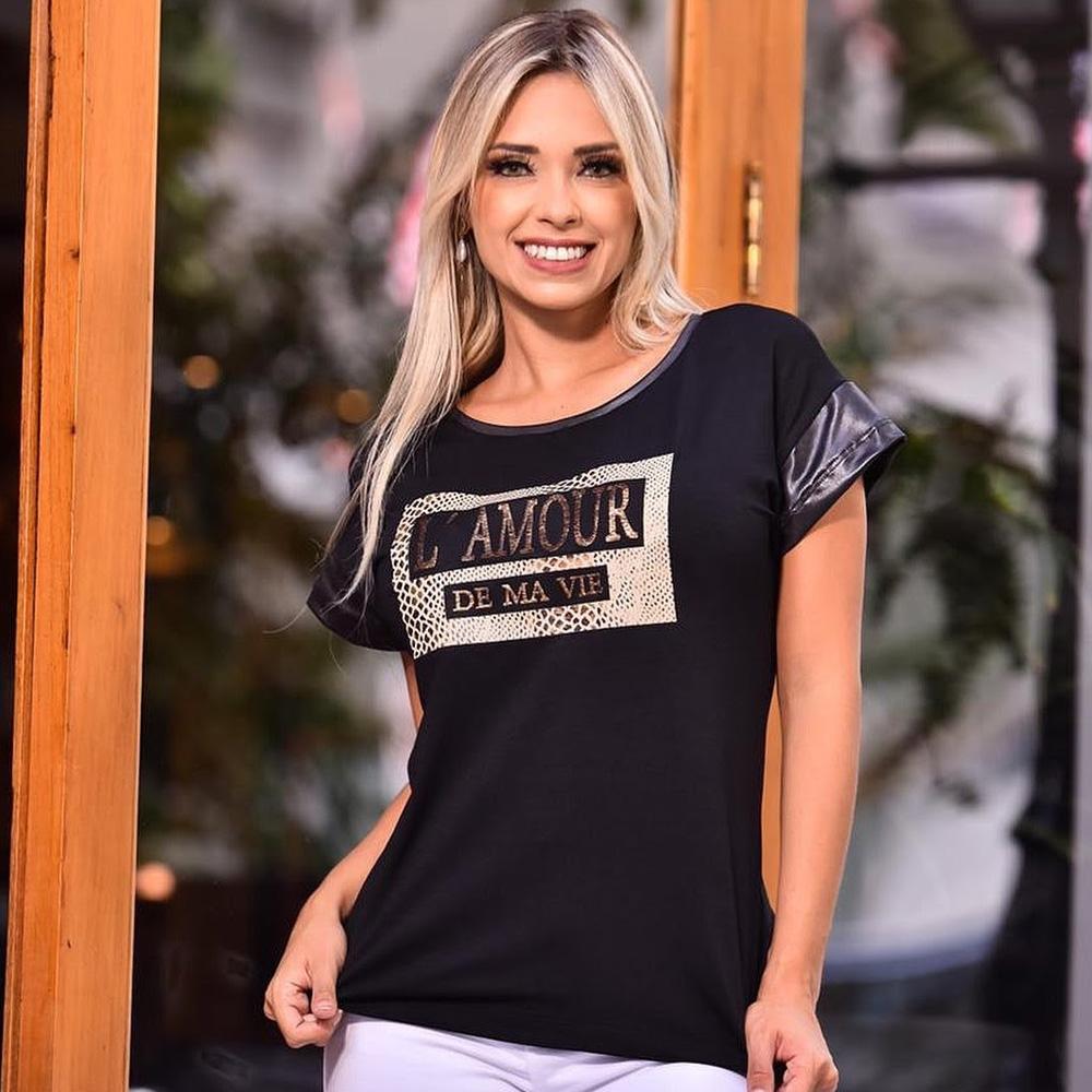 Camiseta L' Amour - Arrazô Moda Feminina - Presentes para o Dia das Mães - Shopping Galeria