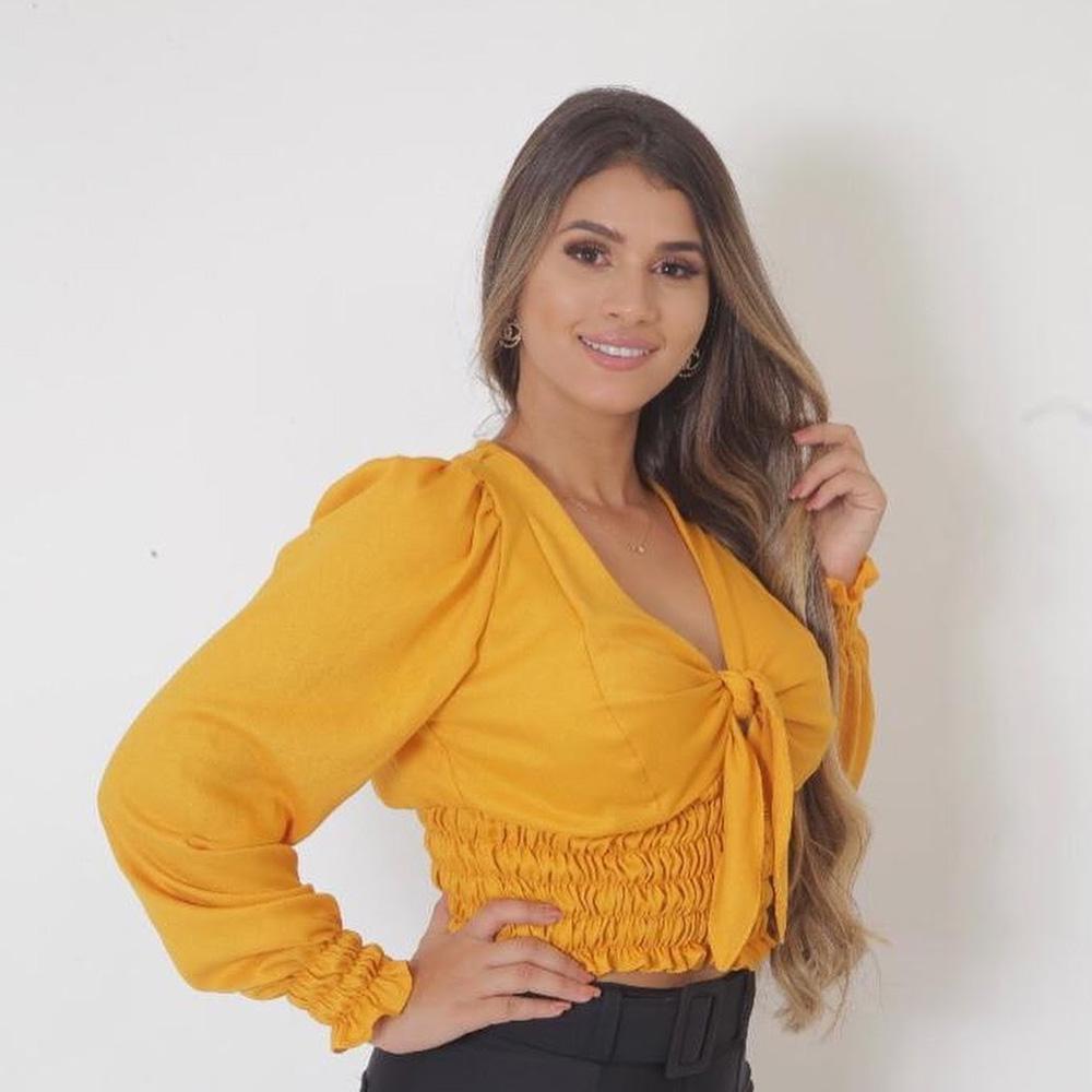 Blusa amarela - Fitwell - Presentes para o Dia das Mães - Shopping Galeria