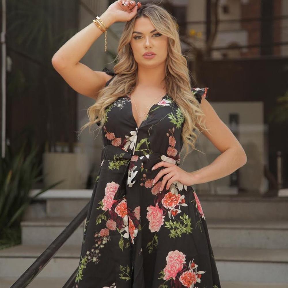 Vestido florido - Fitwell - Presentes para o Dia das Mães - Shopping Galeria